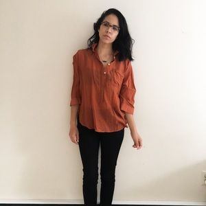 """Loft """"the softened shirt"""" orange"""